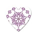 Frame Flower Star Purple Heart Magnet Front
