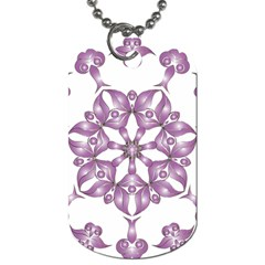 Frame Flower Star Purple Dog Tag (Two Sides)