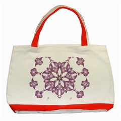 Frame Flower Star Purple Classic Tote Bag (Red)