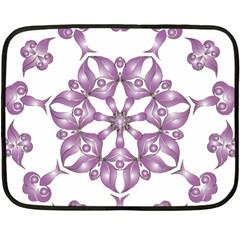 Frame Flower Star Purple Double Sided Fleece Blanket (Mini)