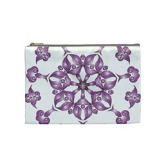 Frame Flower Star Purple Cosmetic Bag (Medium)