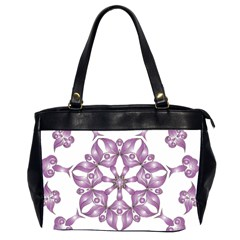 Frame Flower Star Purple Office Handbags (2 Sides)