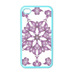 Frame Flower Star Purple Apple iPhone 4 Case (Color)