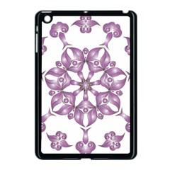 Frame Flower Star Purple Apple iPad Mini Case (Black)