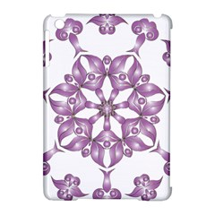 Frame Flower Star Purple Apple Ipad Mini Hardshell Case (compatible With Smart Cover)