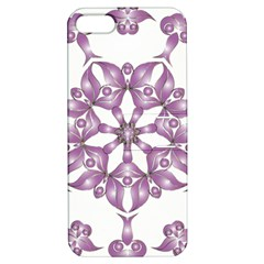 Frame Flower Star Purple Apple Iphone 5 Hardshell Case With Stand