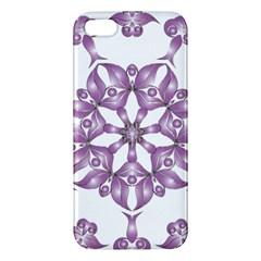 Frame Flower Star Purple Apple iPhone 5 Premium Hardshell Case