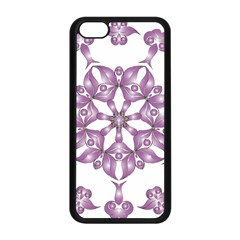 Frame Flower Star Purple Apple iPhone 5C Seamless Case (Black)