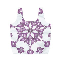 Frame Flower Star Purple Full Print Recycle Bags (M)