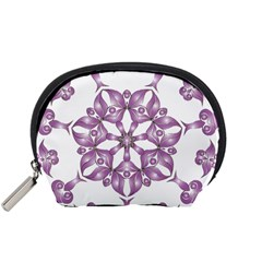 Frame Flower Star Purple Accessory Pouches (Small)