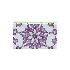 Frame Flower Star Purple Cosmetic Bag (XS)