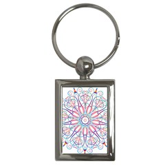 Frame Star Rainbow Love Heart Gold Purple Blue Key Chains (rectangle)