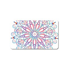 Frame Star Rainbow Love Heart Gold Purple Blue Magnet (Name Card)