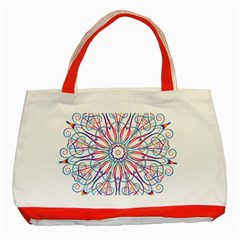 Frame Star Rainbow Love Heart Gold Purple Blue Classic Tote Bag (Red)