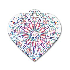 Frame Star Rainbow Love Heart Gold Purple Blue Dog Tag Heart (One Side)