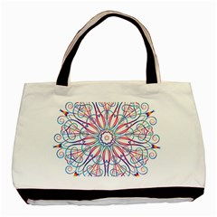 Frame Star Rainbow Love Heart Gold Purple Blue Basic Tote Bag (Two Sides)