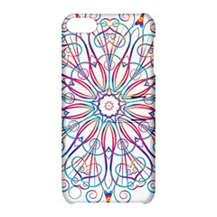 Frame Star Rainbow Love Heart Gold Purple Blue Apple iPod Touch 5 Hardshell Case with Stand