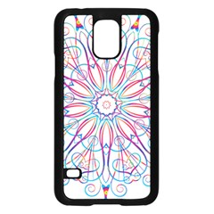 Frame Star Rainbow Love Heart Gold Purple Blue Samsung Galaxy S5 Case (Black)