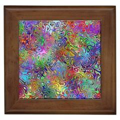 Glass Rainbow Color Framed Tiles
