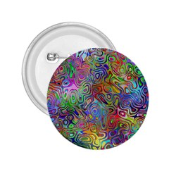 Glass Rainbow Color 2.25  Buttons
