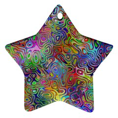 Glass Rainbow Color Ornament (Star)