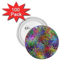 Glass Rainbow Color 1.75  Buttons (100 pack)