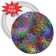 Glass Rainbow Color 3  Buttons (100 pack)