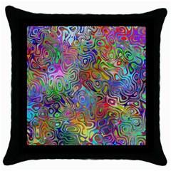 Glass Rainbow Color Throw Pillow Case (Black)