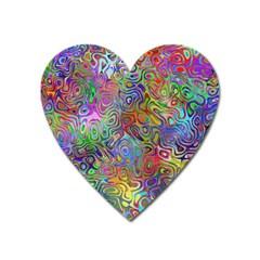 Glass Rainbow Color Heart Magnet