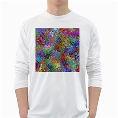 Glass Rainbow Color White Long Sleeve T-Shirts