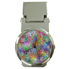 Glass Rainbow Color Money Clip Watches