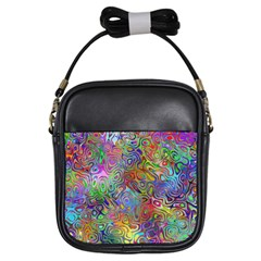 Glass Rainbow Color Girls Sling Bags
