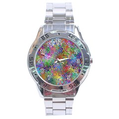 Glass Rainbow Color Stainless Steel Analogue Watch