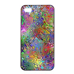Glass Rainbow Color Apple iPhone 4/4s Seamless Case (Black)
