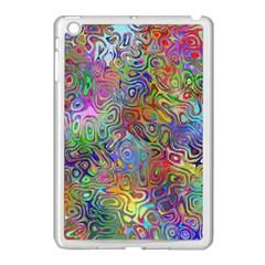 Glass Rainbow Color Apple iPad Mini Case (White)