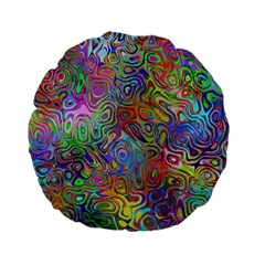 Glass Rainbow Color Standard 15  Premium Round Cushions