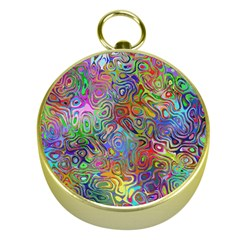 Glass Rainbow Color Gold Compasses