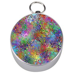 Glass Rainbow Color Silver Compasses