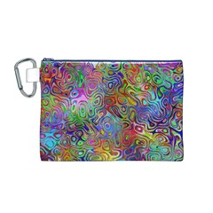 Glass Rainbow Color Canvas Cosmetic Bag (M)