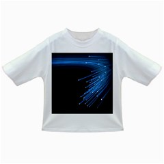 Abstract Light Rays Stripes Lines Black Blue Infant/toddler T Shirts