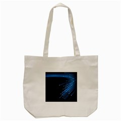 Abstract Light Rays Stripes Lines Black Blue Tote Bag (Cream)
