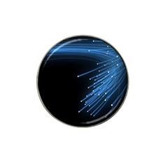 Abstract Light Rays Stripes Lines Black Blue Hat Clip Ball Marker