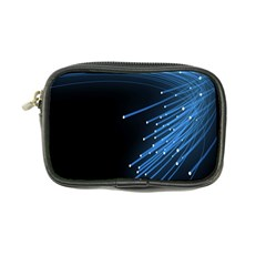 Abstract Light Rays Stripes Lines Black Blue Coin Purse