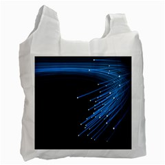 Abstract Light Rays Stripes Lines Black Blue Recycle Bag (One Side)