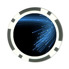 Abstract Light Rays Stripes Lines Black Blue Poker Chip Card Guard (10 pack)