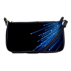 Abstract Light Rays Stripes Lines Black Blue Shoulder Clutch Bags