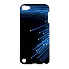 Abstract Light Rays Stripes Lines Black Blue Apple iPod Touch 5 Hardshell Case