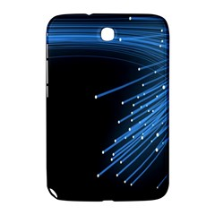 Abstract Light Rays Stripes Lines Black Blue Samsung Galaxy Note 8.0 N5100 Hardshell Case