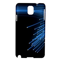 Abstract Light Rays Stripes Lines Black Blue Samsung Galaxy Note 3 N9005 Hardshell Case