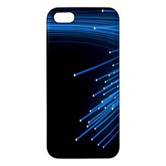Abstract Light Rays Stripes Lines Black Blue iPhone 5S/ SE Premium Hardshell Case